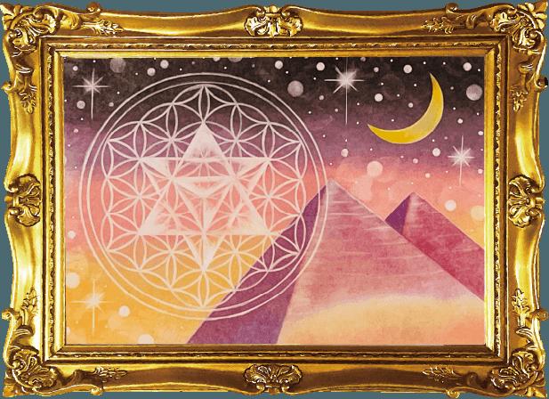 パステル神聖幾何学模様イメージ